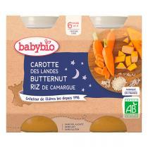 Babybio - Petits pots Carottes Butternut Riz 6 mois 2 x 200g