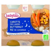 Babybio - Petits pots Carottes Potimarron Riz 6 mois 2x200g