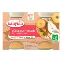 Babybio - Petits pots Délice des vergers de France 6 mois 2x130g