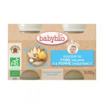 Babybio - Petits pots Douceur Pomme Poire 6 mois 2x130g