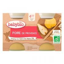 Babybio - Petits pots Poire de Provence dès 4 mois 2x130g