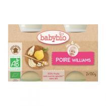 Babybio - Petits pots Poire Williams dès 4 mois 2x130g
