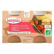 Babybio - Babybio Pomme-Abricot-Céréale 4 mois