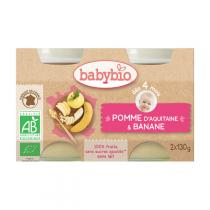 Babybio - Petits pots Pomme-Banane 4 mois 2x130g