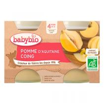 Babybio - Petits pots Pomme-Coing 4 mois 2x130g