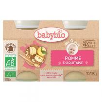 Babybio - Petits pots Pommes d'Aquitaine dès 4mois 2x130g