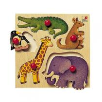 Selecta - Wooden Toy Puzzle - Zoo Animals