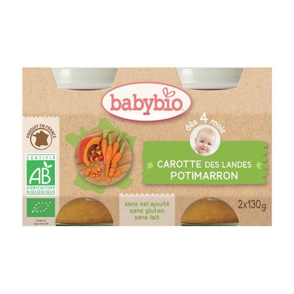 Babybio - Babybio Potimarron-Carotte dès 4mois