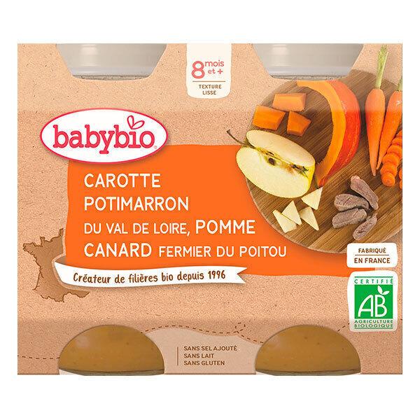 Babybio - Menu Légumes Canard Fermier dès 8 mois 2 x 200g