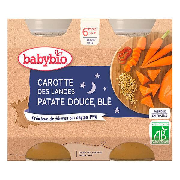 Babybio - Petits pots Carotte Patate douce Blé 6 mois 2 x 200g