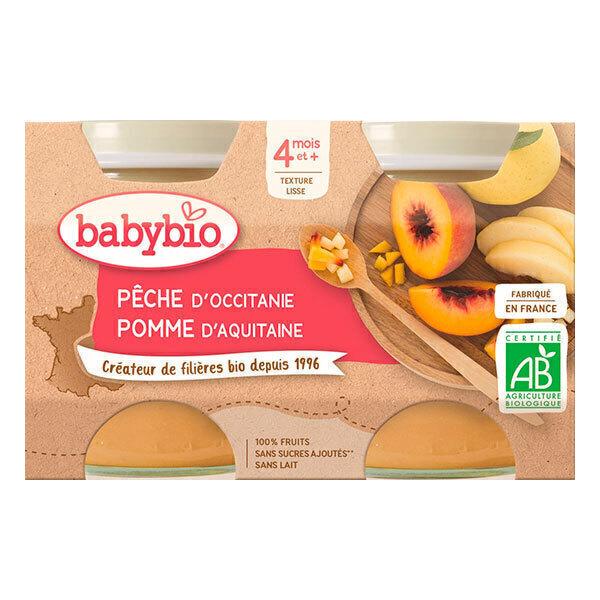 Babybio - Babybio Pêche Pomme dès 4mois