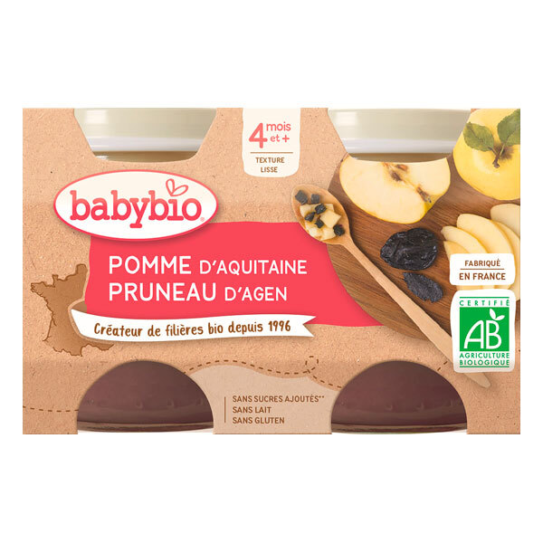 Babybio - Babybio Pomme-Pruneau 4 mois