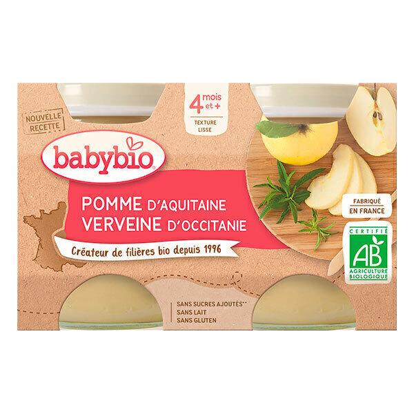 Babybio - Petits pots pommes verveine dès 4 mois 2 x 130g