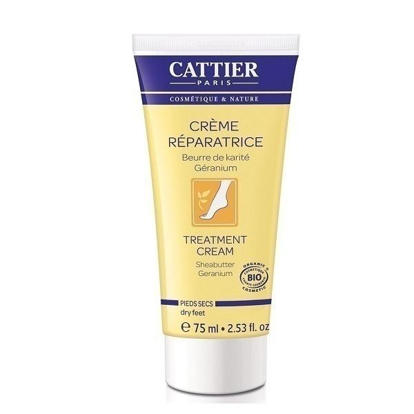 Cattier - Crème réparatrice pieds secs 75ml