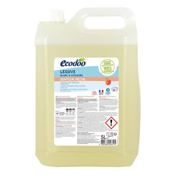 Ecodoo - Lessive liquide concentrée Pêche bidon éco 5L