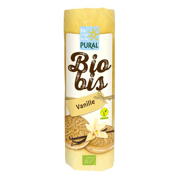 Pural - Biscuit fourré Biobis vanille 300g