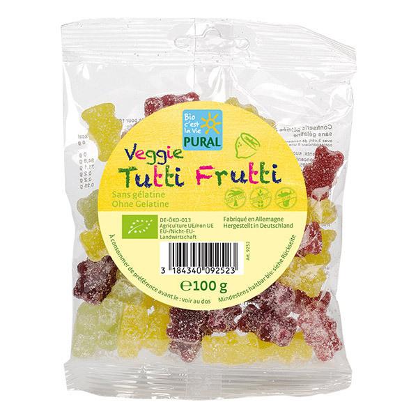 Pural - Tutti Frutti bonbons oursons 100g