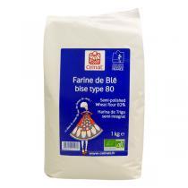 Celnat - Farine de blé bise T80 bio - 25 kg
