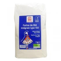 Celnat - Farine de blé intégrale T150 bio - 5 kg