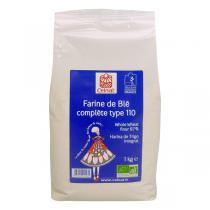 Celnat - Farine de blé semi-complète T110 bio - 5 kg