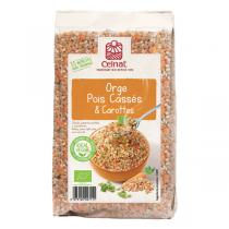 Celnat - Mélange orge, pois cassés & carottes - 500 g