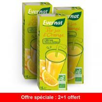 Evernat - Offre Pur Jus D'Orange 1L - 2 + 1 Gratuit