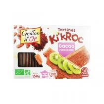 Grillon d'or - Tartines Ki'kroc Cacao BIO 150g