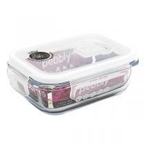 Pebbly - Boîte rectangulaire en verre borosilicate 40cl