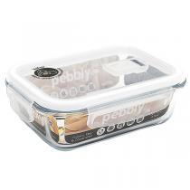 Pebbly - Boîte rectangulaire en verre borosilicate 65cl
