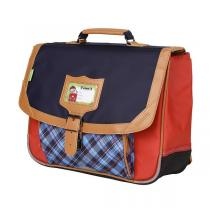 Tann's - Cartable 35cm Tartan rouge