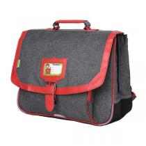 Tann's - Cartable 38cm chiné rouge