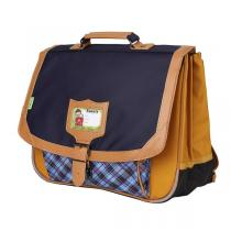 Tann's - Cartable 38cm Tartan Moutarde