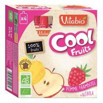 Vitabio - Cool Fruits Pomme Framboise - Gourdes de fruits - 4x90g