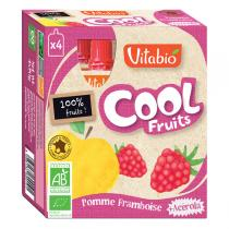 Vitabio - Compote Cool Fruits Pomme Framboise 4x90g