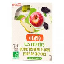 Vitabio - Gourde Fruits Pomme Pruneau Poire - 4x120g