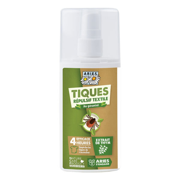 Aries - Spray anti-tiques répulsif textile 100 mL