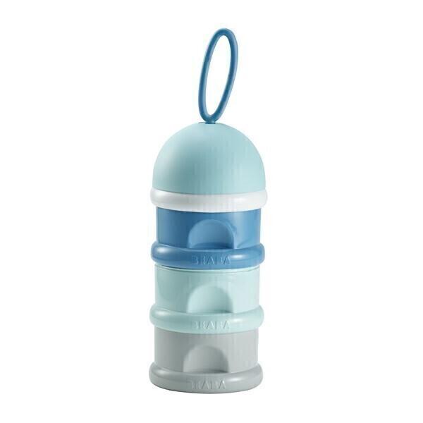 Beaba - Boîte doseuse de lait empilable bleu
