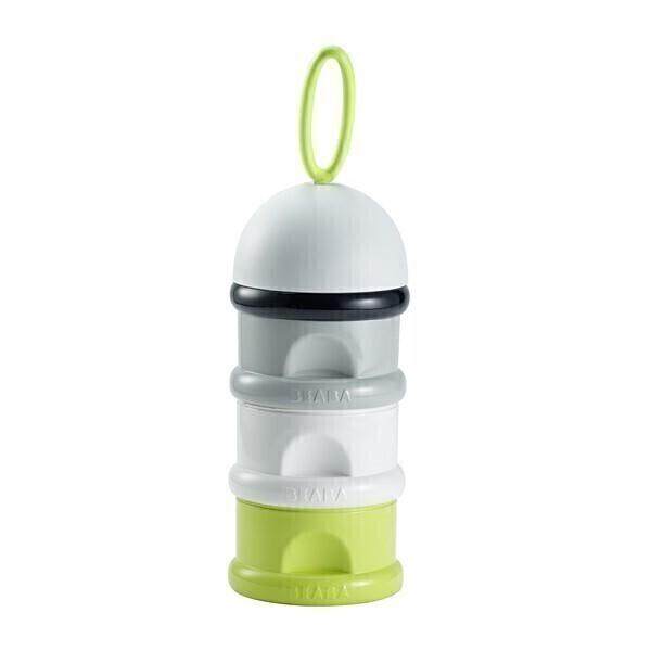 Beaba - Boîte doseuse de lait empilable Neon