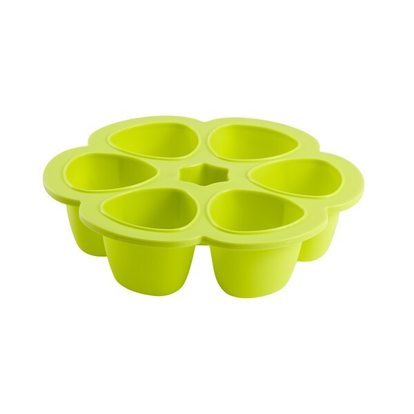 Beaba - Multiportions silicone 6 x 90ml Neon