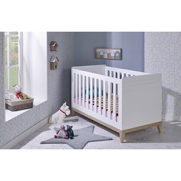 Bébé Provence - Lit bébé Evidence Blanc 70x140cm