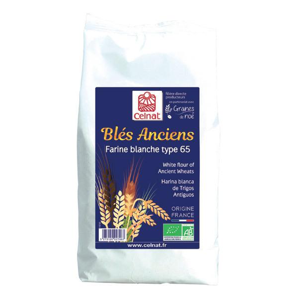 Celnat - Farine blanche de blés anciens T65 bio - 1 kg