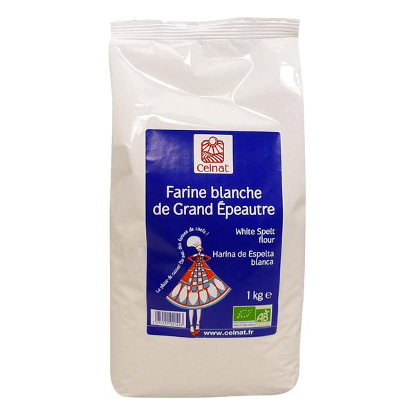 Celnat - Farine blanche de grand épeautre bio 1kg