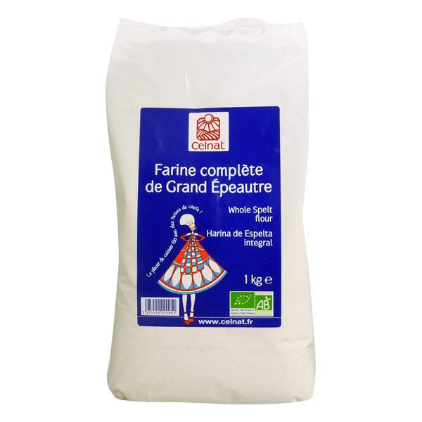 Celnat - Farine complète de grand épeautre bio - 5 kg