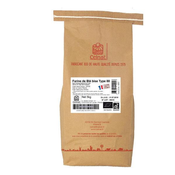 Celnat - Farine de blé bise T80 bio - 5 kg