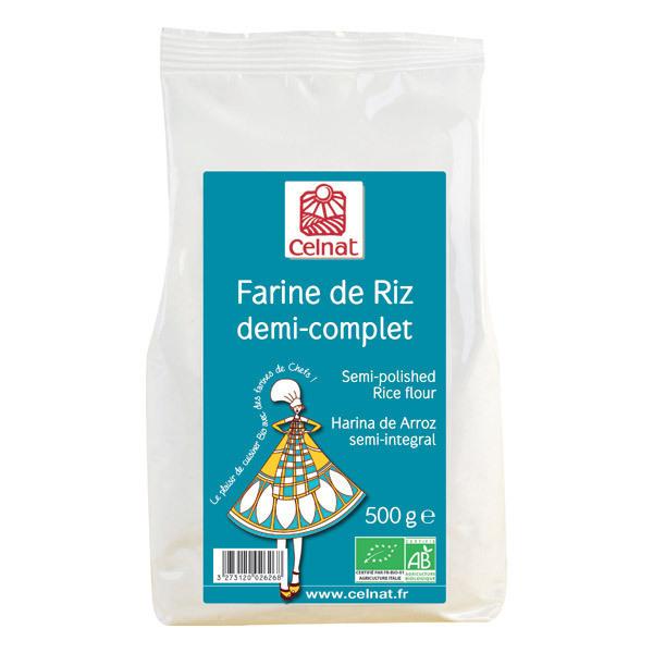 Celnat - Farine de riz demi-complet bio 500g
