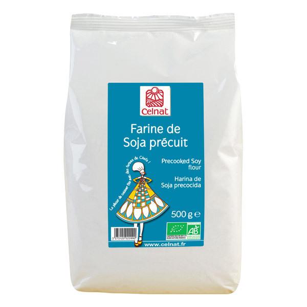 Celnat - Farine de soja précuit bio 500g
