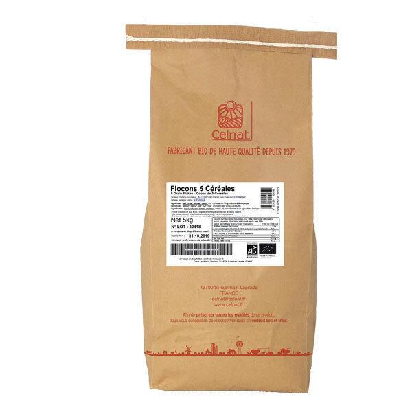 Celnat - Flocons 5 céréales bio - 5 kg
