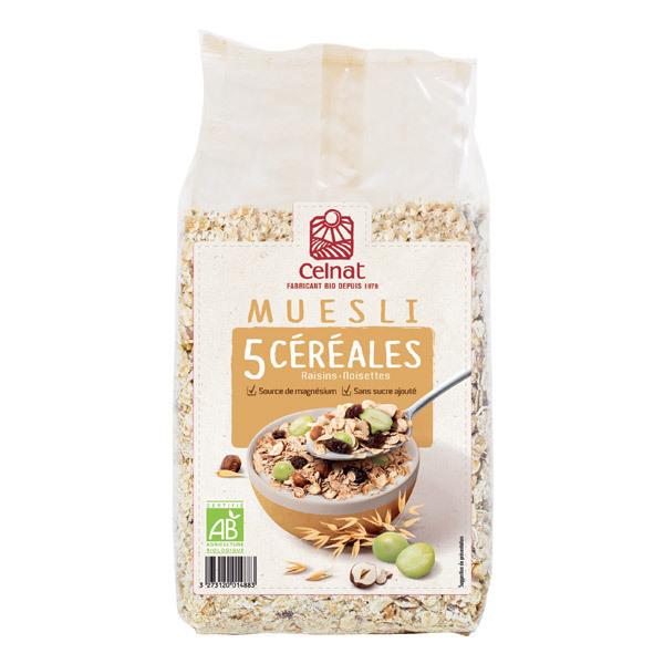 Celnat - Muesli 5 Céréales bio - 3Kg
