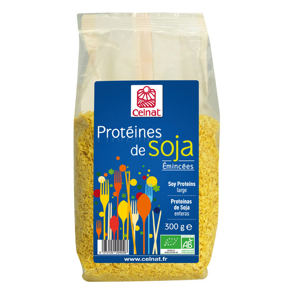 Prot ines de soja minc es 300 g celnat acheter sur for Proteine de soja