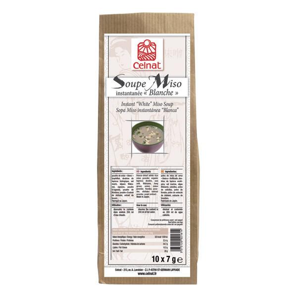 Celnat - Soupe miso instantanée blanche - 70 g